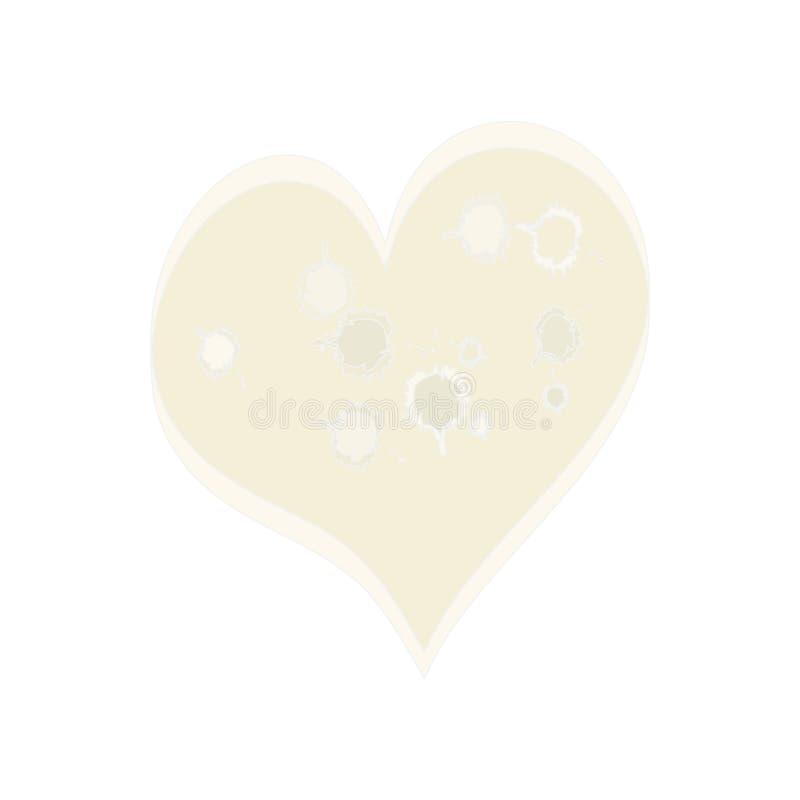 Pinky Ostry serce ilustracja wektor