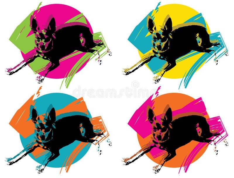 pinky pop för konst stock illustrationer