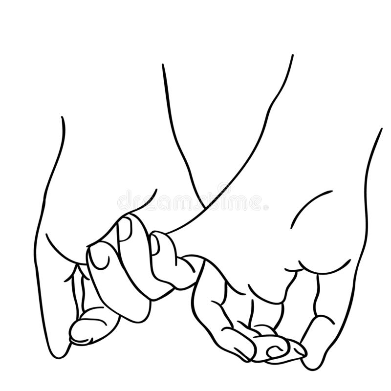 Free Pinky Promise Vector Illustration By Crafteroks Stock Photos - 146404903