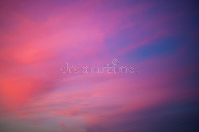 Pinky Sunset Sky Background fotos de archivo libres de regalías