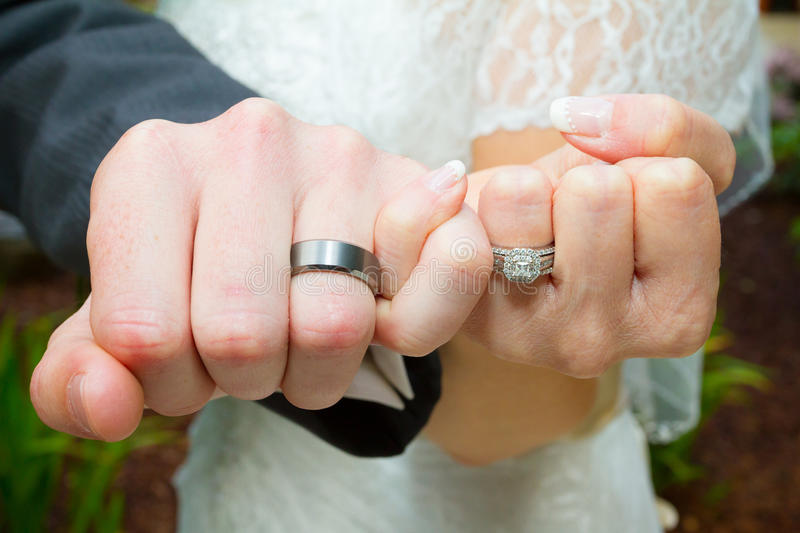 Pinky Swear Wedding Ring Hands Stock Image Image of hand fingers