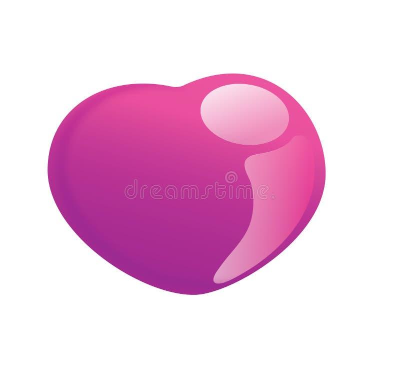 Pinky Uroczy i cukierek lubimy serce royalty ilustracja