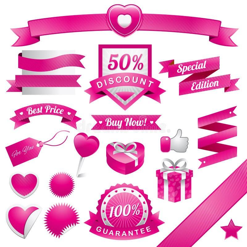 Pinky Web Elements ilustração stock