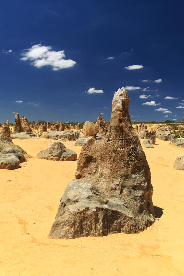 Pinnacles Desert,Western Australia royalty free stock photography
