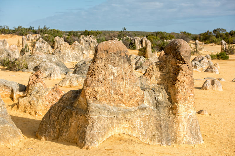 Pinnacles park in west australia royalty free stock photography