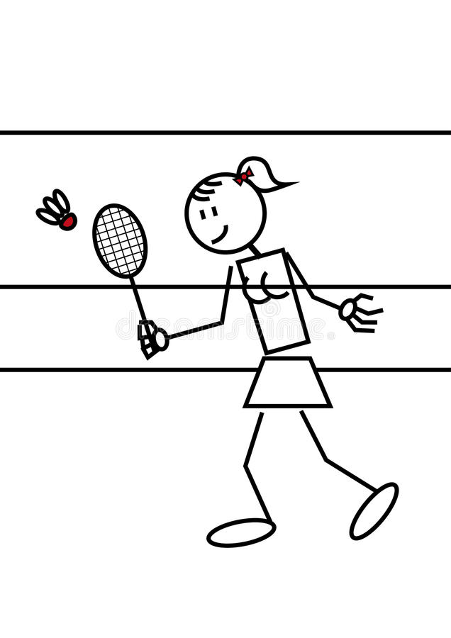 Pinnediagram badminton vektor illustrationer