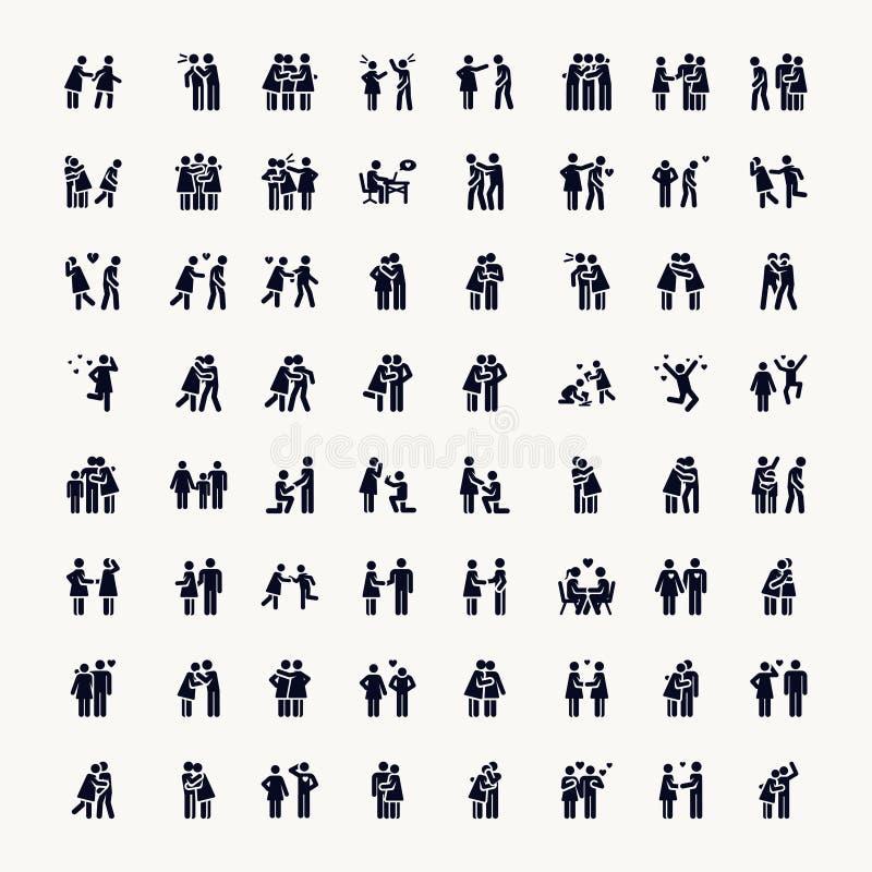 PINNEDIAGRAM Förälskelse stock illustrationer