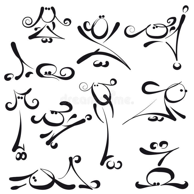 Pinnediagram - kvinnlig vektor illustrationer