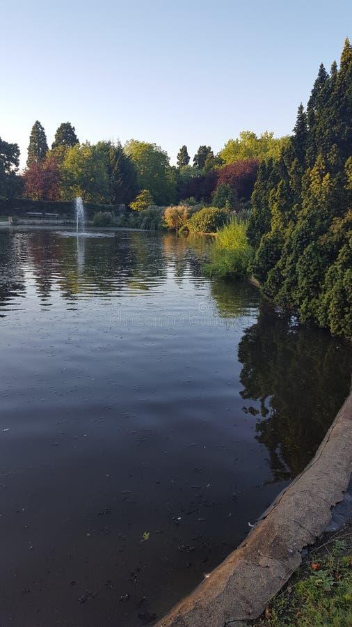 Pinner公园湖 免版税库存照片