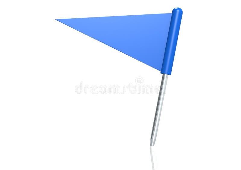 Pino da bandeira do triângulo ilustração do vetor