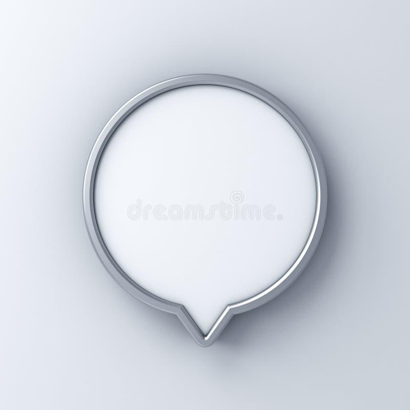 Pino vazio ou zombaria do quadro indicador do círculo acima da placa ou de anunciar do signage as caixas do quadro de avisos do c ilustração do vetor