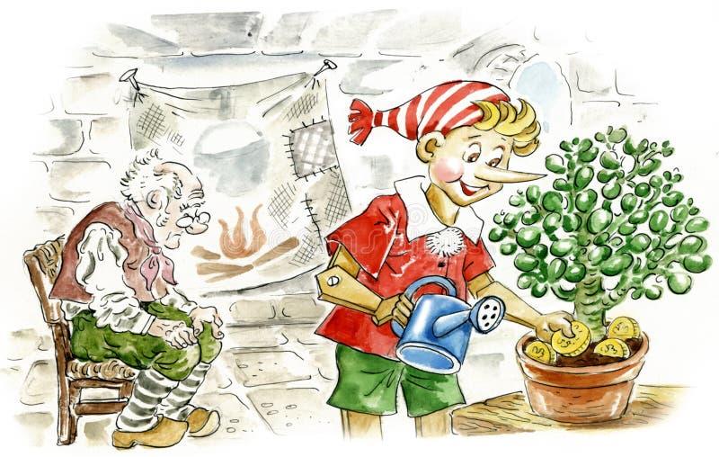 Pinocchio vector illustratie