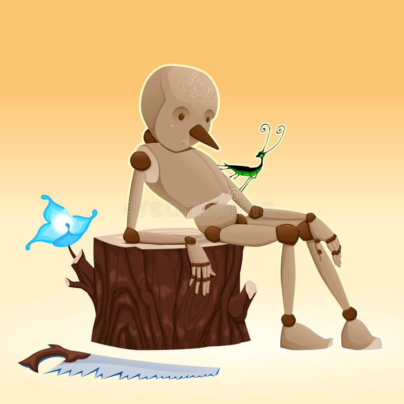 Pinocchio. stock illustratie