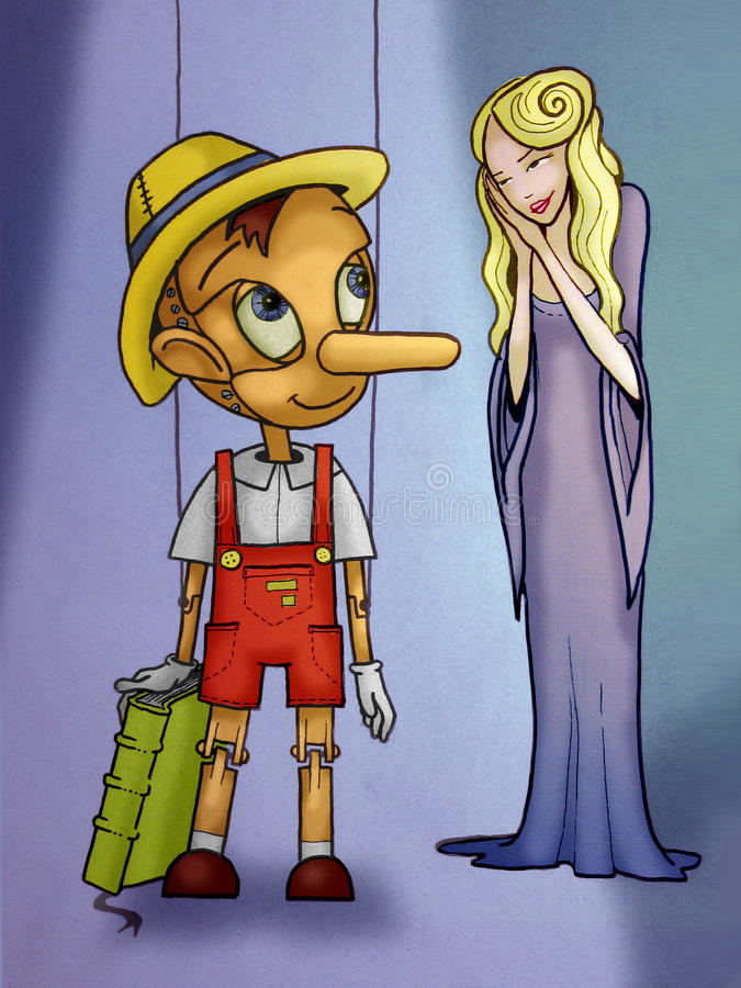Pinocchio stock illustratie