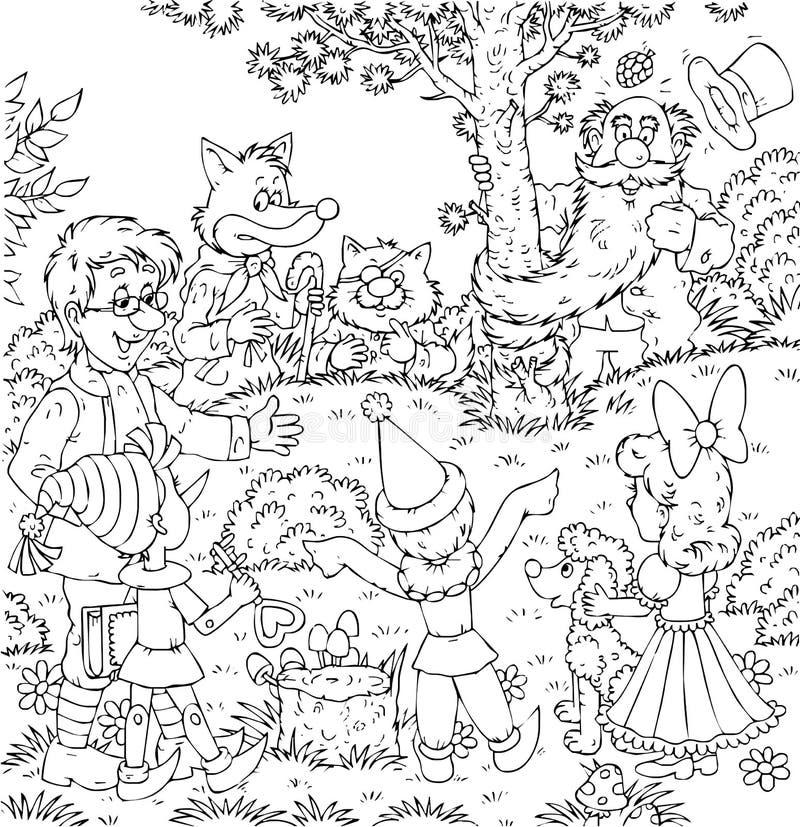 Pinocchio/Buratino stock abbildung