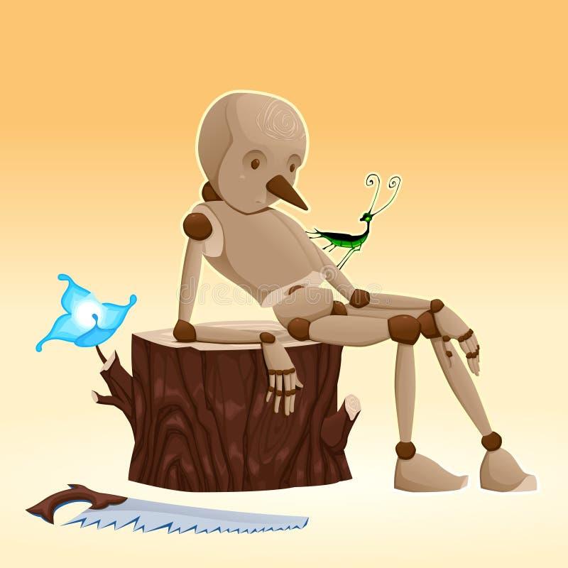 Pinocchio. stock illustration