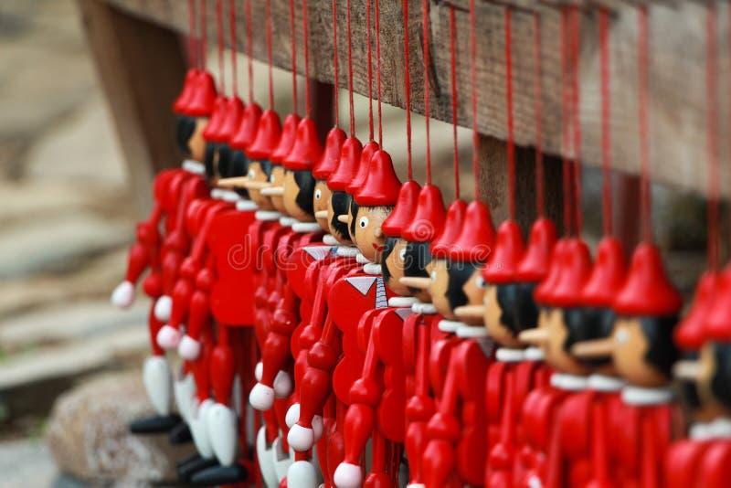 Pinocchio di legno fotografia stock