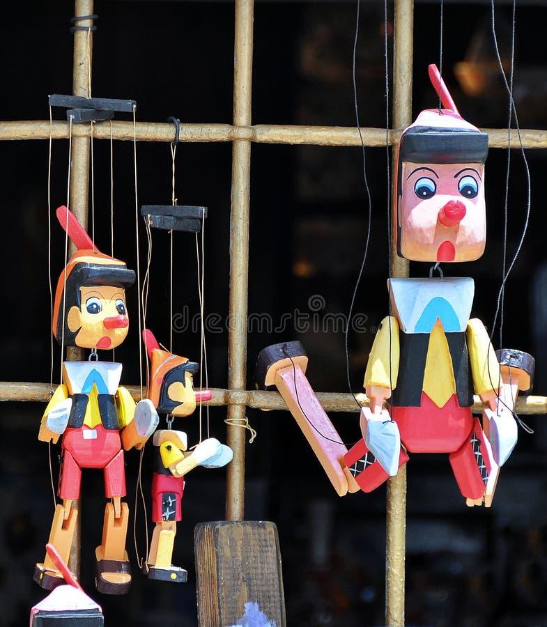 Pinocchio dockor royaltyfri fotografi
