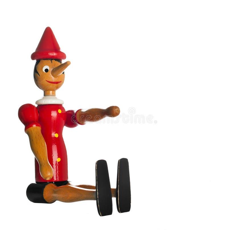 Pinocchio, Drewniana zabawka obrazy stock