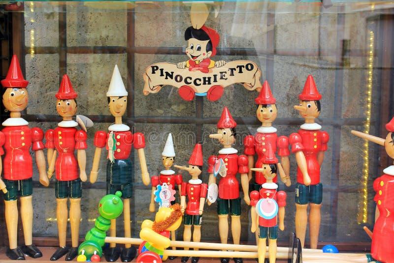 Pinocchio lager i Rome, Italien arkivbilder