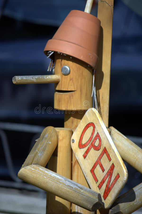 Download Pinocchio - open sign stock image. Image of italian, growing - 13381963