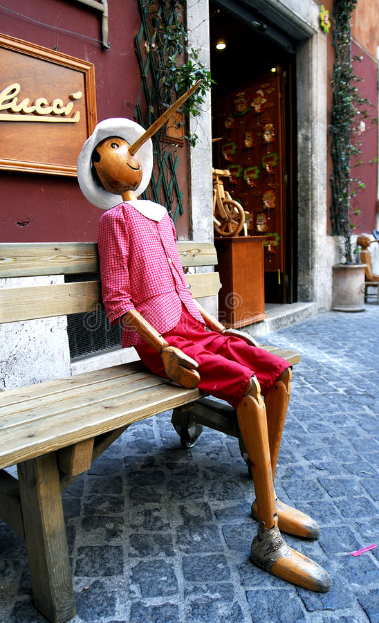 Pinocchio Rome royalty-vrije stock foto's