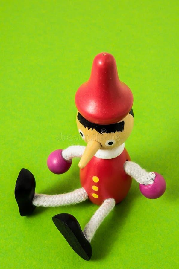 Pinocchio Toy Statue royaltyfria bilder