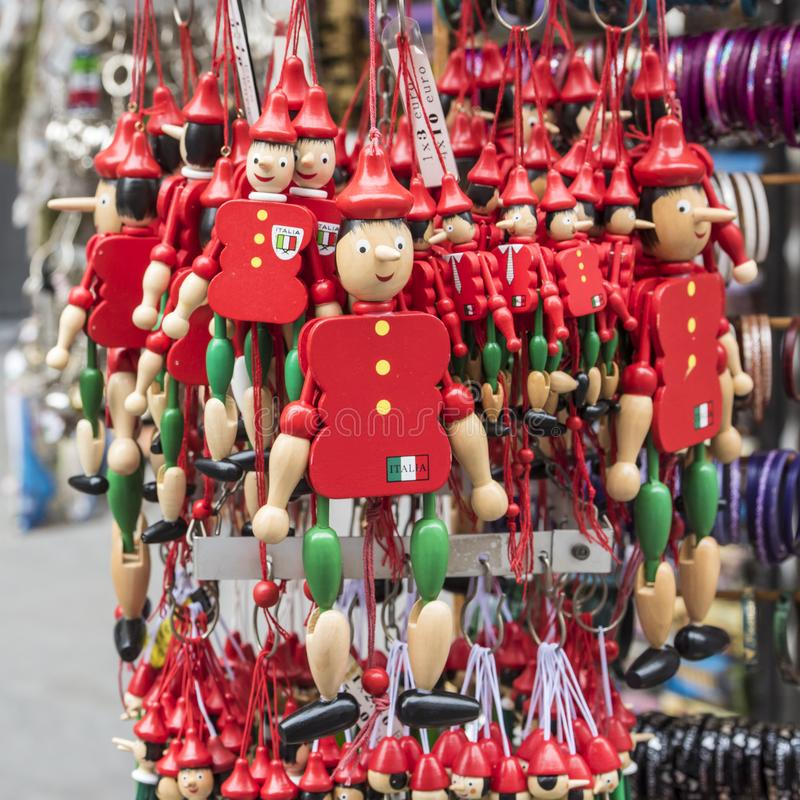 Pinocchio - typical italian souvenir stock images