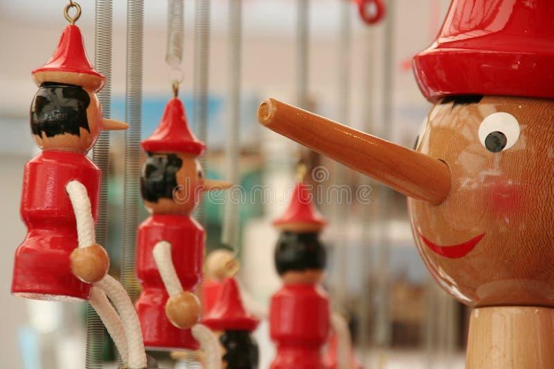 Pinocchio toys fotografering för bildbyråer