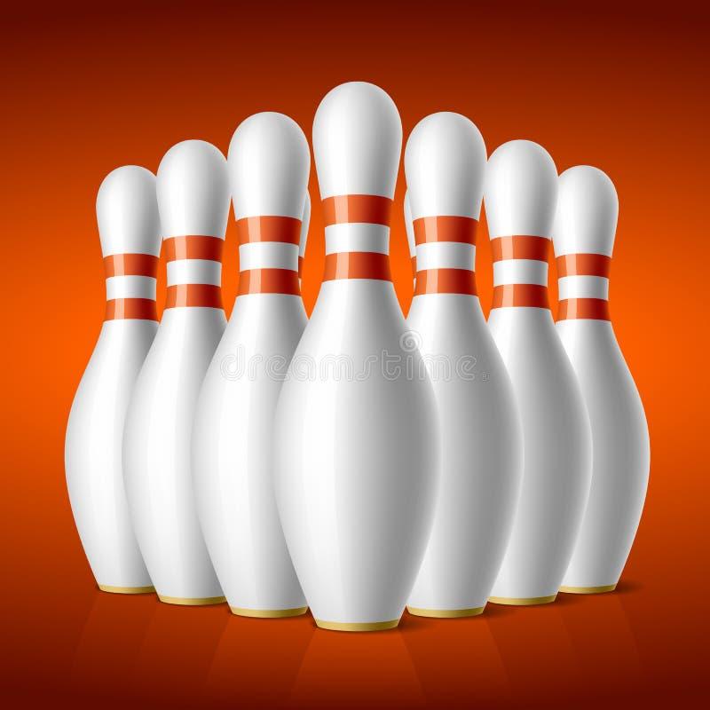 Pinos de bowling ilustração do vetor