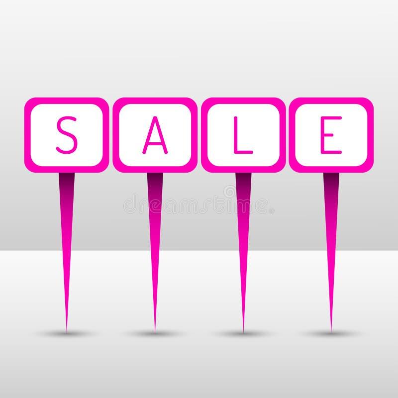 Pinos de néon da venda ilustração royalty free