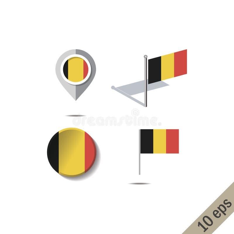 Pinos do mapa com a bandeira de BÓSNIA ilustração royalty free