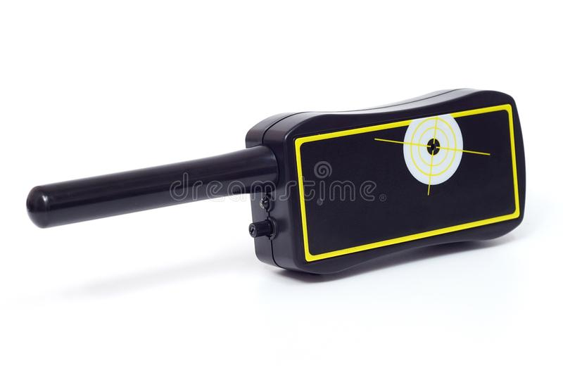 Pinpointer metal detector. A pinpointer metal detector with waterproof probe shaft royalty free stock images