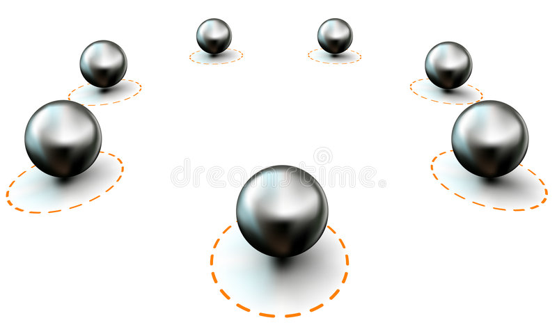 Pins In A Circle Stock Photography