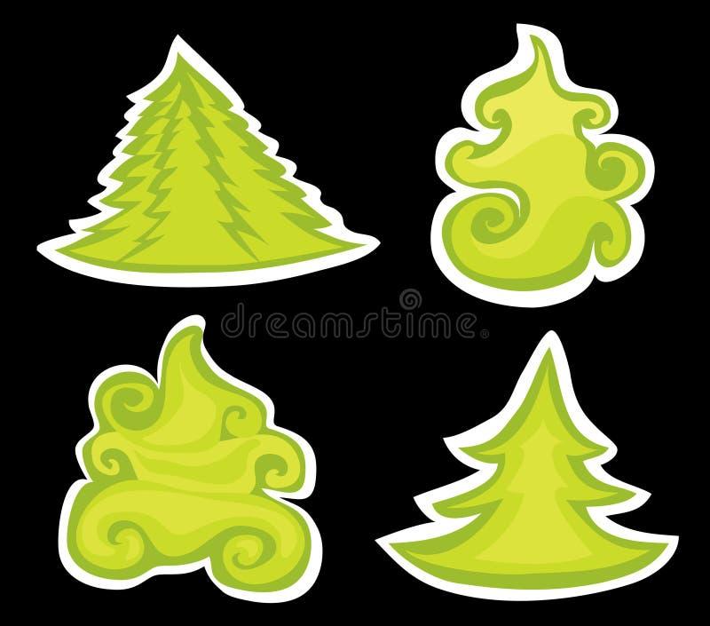 Pins de Noël. illustration libre de droits