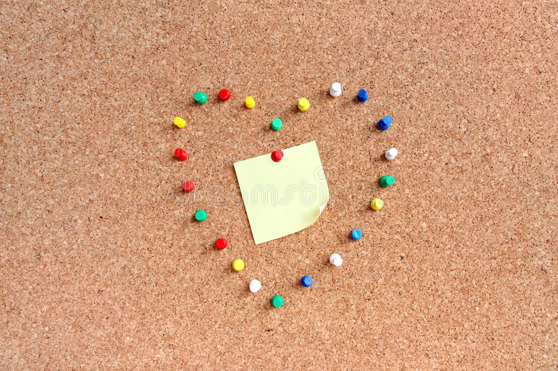 Download Pins On Pin-board With Notice Stock Photo - Image: 18296294