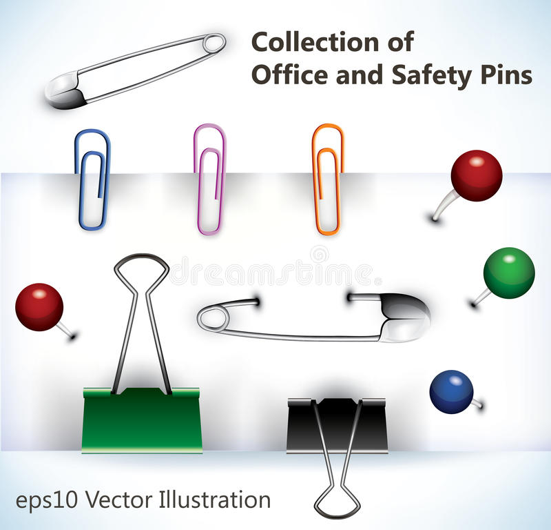 pins vektorn stock illustrationer