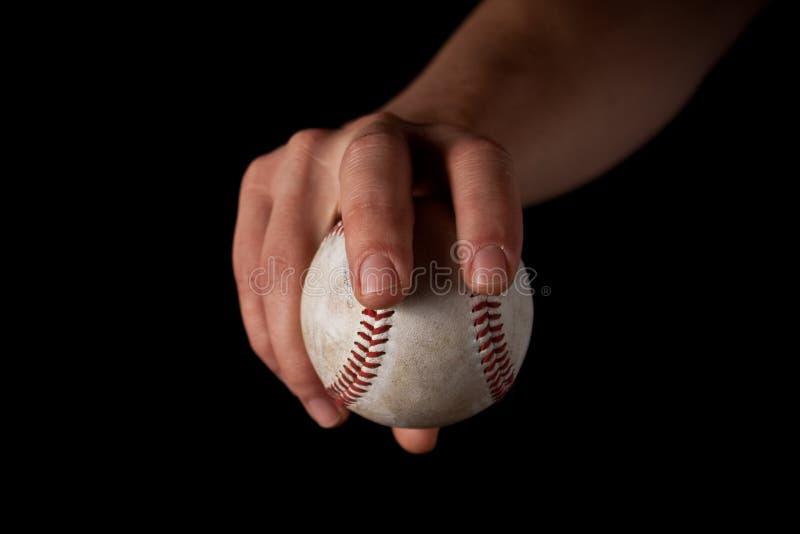 Pinsa del fastball sul nero fotografie stock libere da diritti