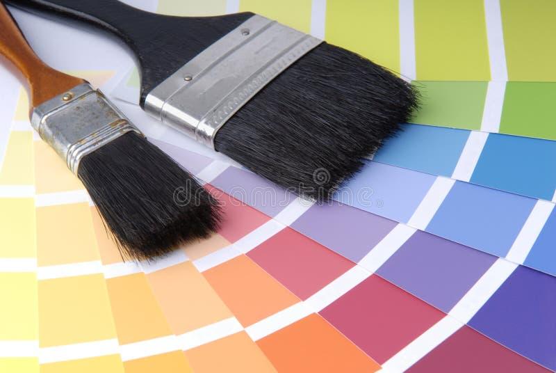 Download Pinsel stockbild. Bild von sich, lackieren, tapete, redecoration - 2669351