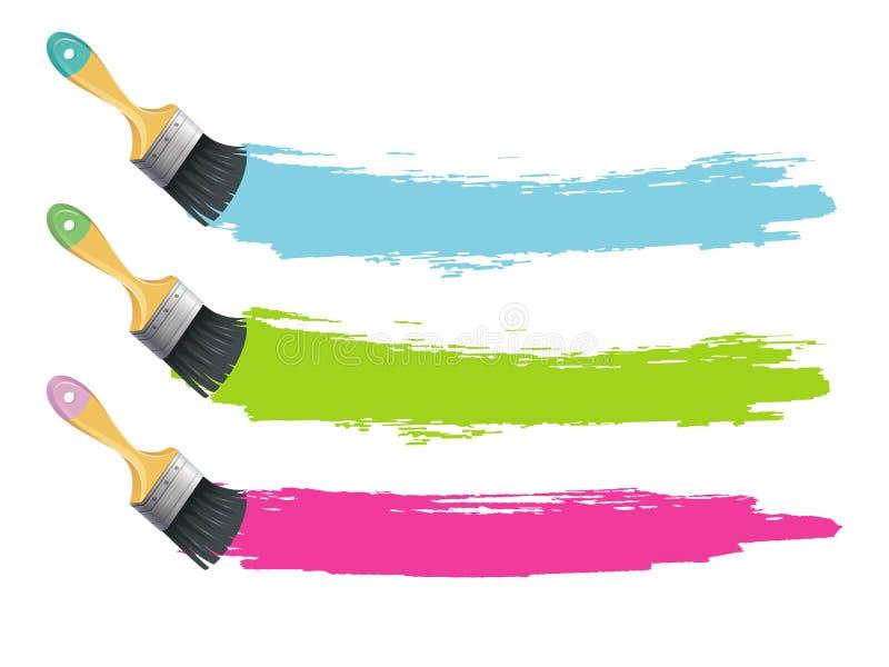 pinsel mit farbe spritzt vektor abbildung illustration von lack 31346618. Black Bedroom Furniture Sets. Home Design Ideas
