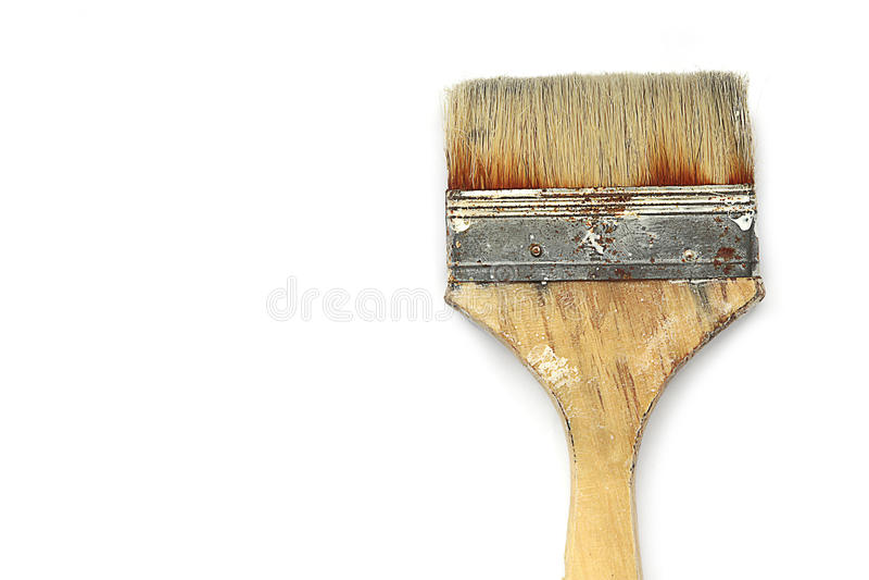 Pinselisolat auf weißem Hintergrund lizenzfreie stockfotos