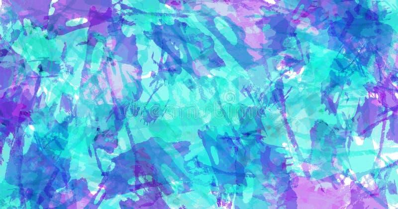 Pinselstriche der Farbe Malen Sie spritzt Moderner Anstrich Zeitgen?ssische Kunst Hintergrund der abstrakten Kunst vektor abbildung