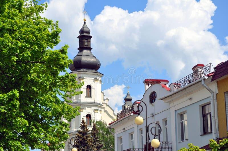 Pinsk Взгляд на церков предположения благословленной девой марии стоковая фотография rf
