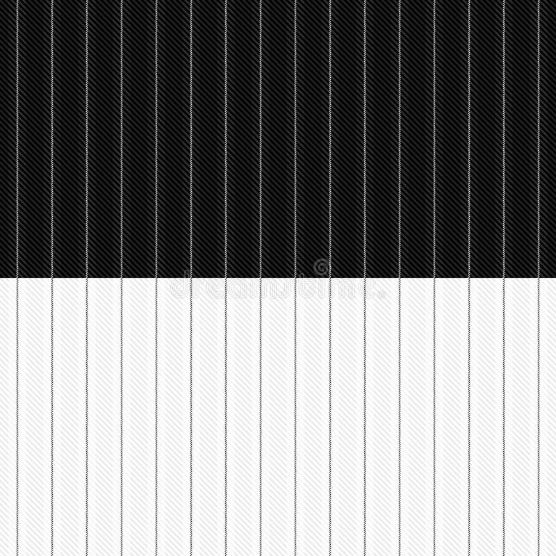 Pinstripe Pattern. A seamless pinstripe pattern in white and black. Each color placed on separate layer