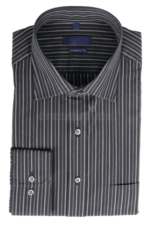 pinstriped skjorta för svart klänning arkivfoton