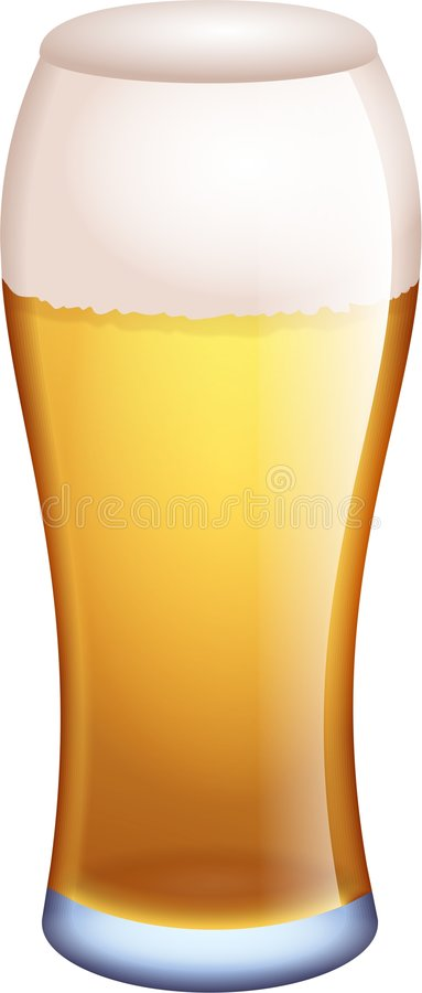 Pint of ale royalty free illustration