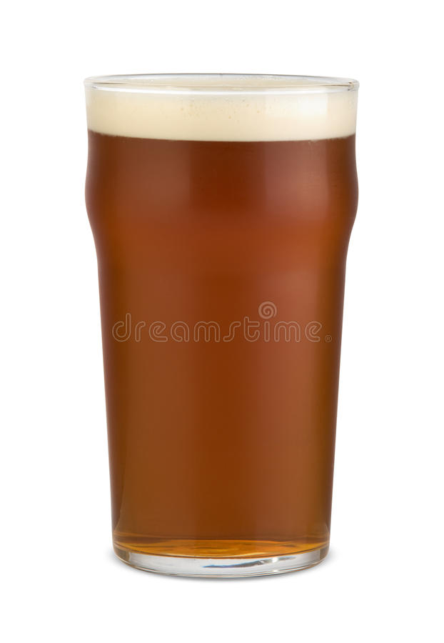 Pint of ale royalty free stock photo