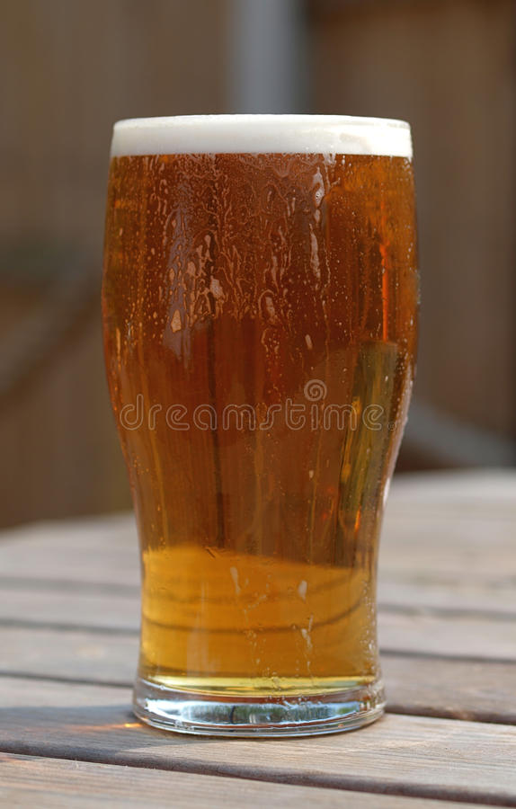 Download Pint Of Ale On Beer Garden Table Stock Image - Image: 19347307