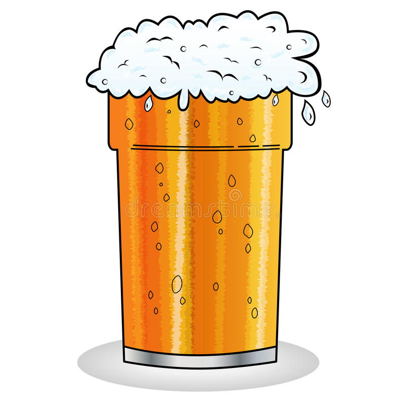 Pint Of Beer Cartoon Style Royalty Free Stock Photography