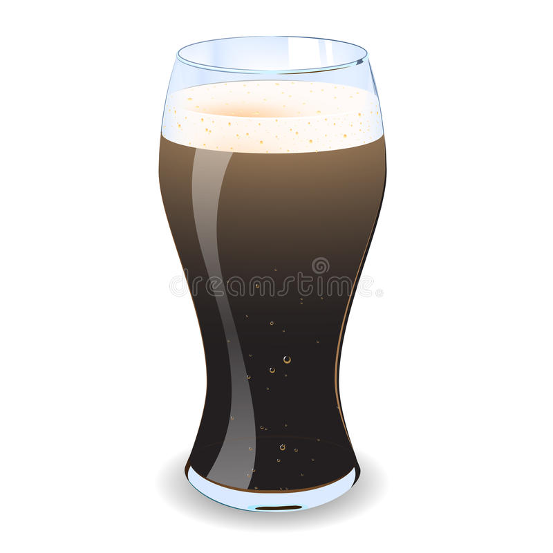 Download Pint Of Guiness stock illustration. Image of froth, irish - 25496352